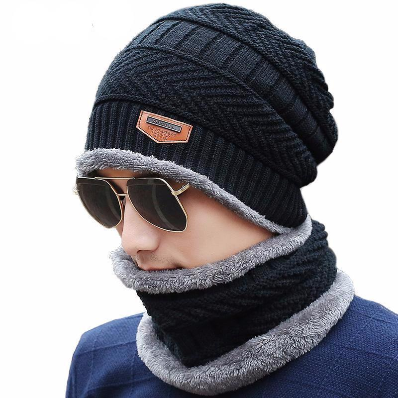 Faux Fur Lined Knit Winter Cap (with optional neck warmer) - essential.merch