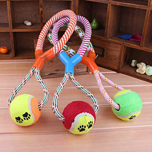Doggie Ball + Rope Pull Toy - essential.merch