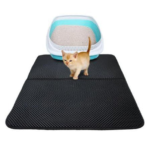 The Best Double Layer Cat Litter Mat | Traps Litter Like an Envelope-No Tracking! - essential.merch
