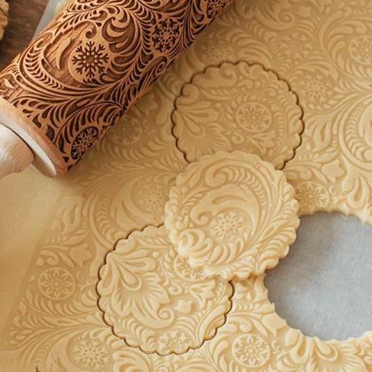 Patterned Rolling Pin - essential.merch
