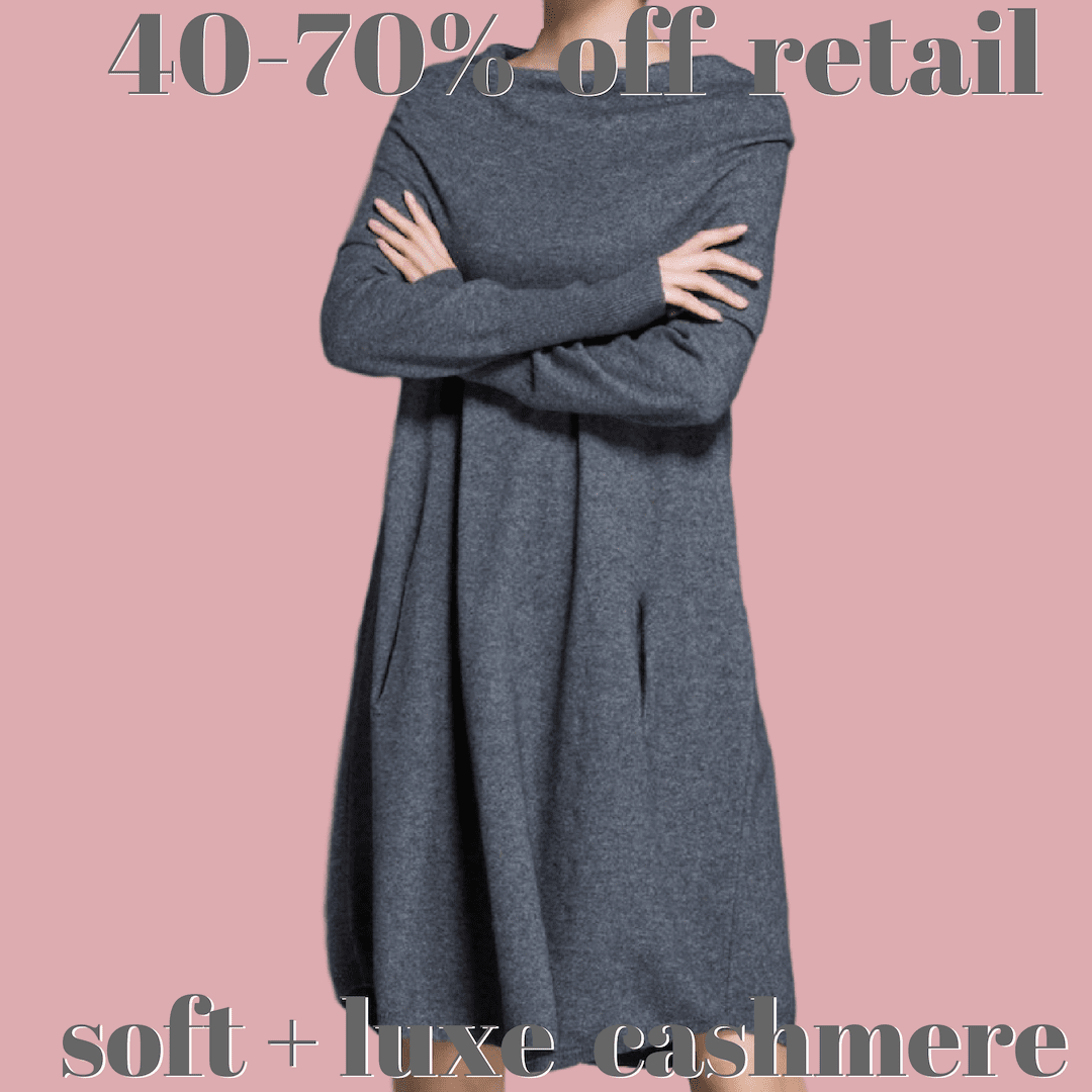 Off The Shoulder Pure Cashmere Dress - essential.merch