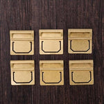Office: Brass Retro Bookmarks X 6 - essential.merch