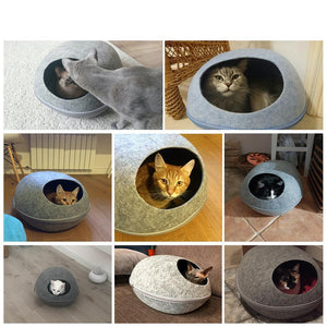 Cozy Felt Nap Pod - for Cats or Small Dogs! - essential.merch