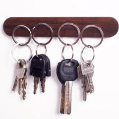 Home: Wood Magnetic Key Rack - essential.merch