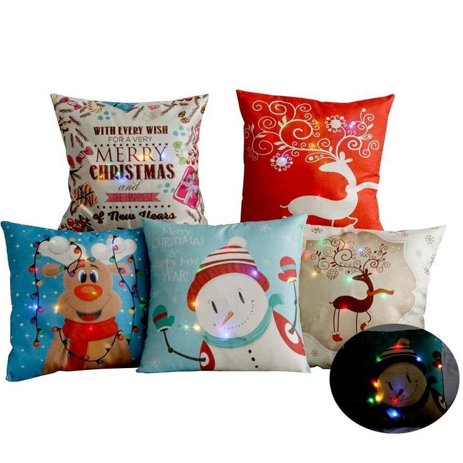 LED Christmas Cushion Cover - essential.merch