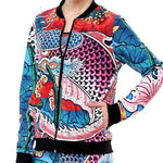Carp Tattoo Print Bomber - essential.merch
