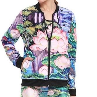 Lotus Print Bomber - essential.merch
