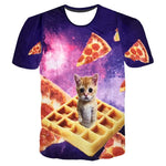 Unisex 3D Kitten Waffle or Laser Eyes Tee - essential.merch