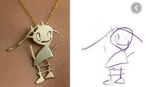 Artzya-A Necklace from Your Kid's Drawing - essential.merch