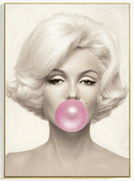 Iconic Bubble Gum Canvas Wall Art : Audrey & Marilyn - essential.merch