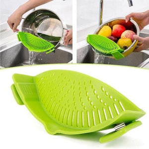 Kitchen: Silicone Snap-On Colander & Strainer - essential.merch