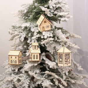 Wood House Ornaments - essential.merch