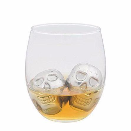 Barware: Stainless Steel Skull Ice Cubes - essential.merch