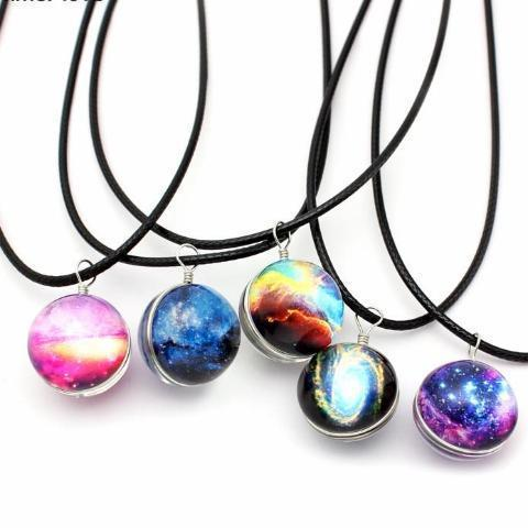 Galaxy Glass Ball Pendant Necklace - essential.merch