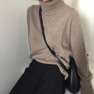 Oversized Cashmere Turtleneck - essential.merch