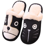 Cat+Dog Cartoon Plush Slippers - essential.merch