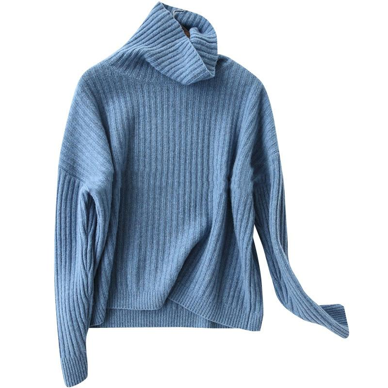 Cashmere Ribbed Turtleneck - essential.merch
