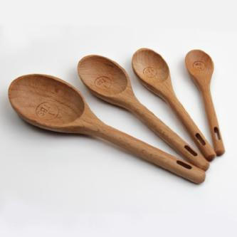 Kitchen: Handcrafted Beech Wood Measuring Spoons - essential.merch