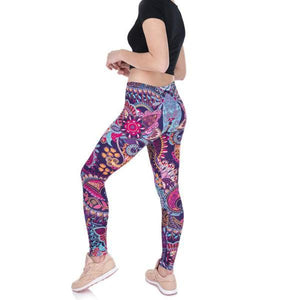 Mandala Flower Pink Print Leggings - essential.merch
