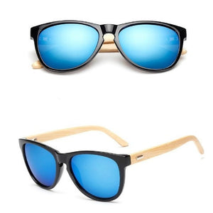 Sunglasses: Bamboo Arm Wayfarer - essential.merch