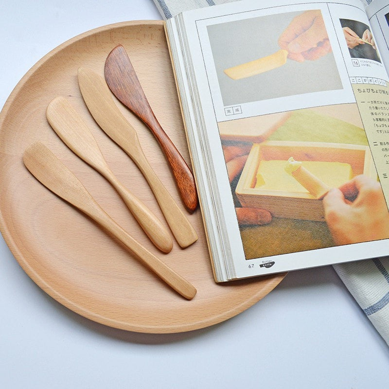 Kitchen: Bamboo Serving Knives x 4 - essential.merch