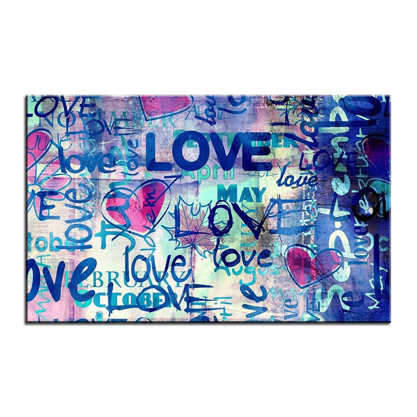 Unframed Art Canvas-LOVE - essential.merch
