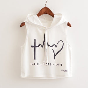 Ladies Hooded Graphic Top - essential.merch