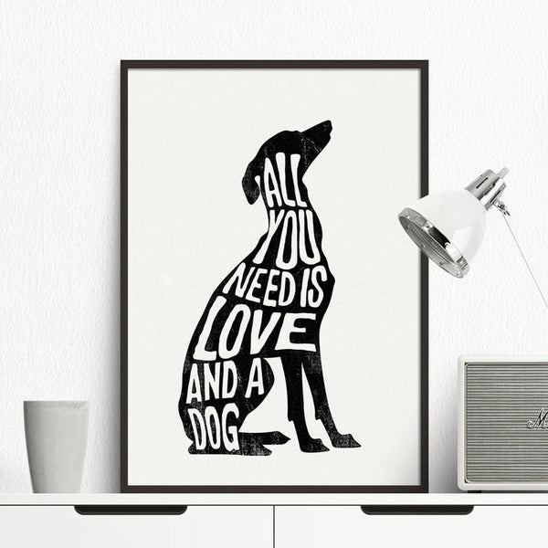 "Unframed Art Canvas: ""Love That Dog"" - essential.merch"