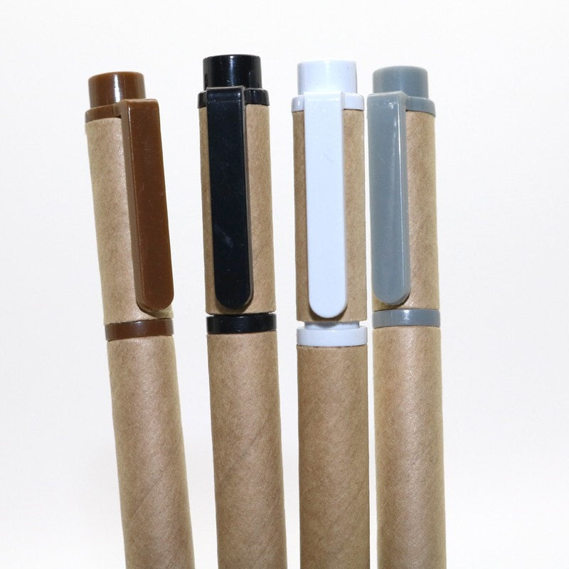 Pens: Kraft paper tube x 4 - essential.merch