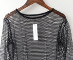 Ladies Long Sleeved Mesh Top - essential.merch