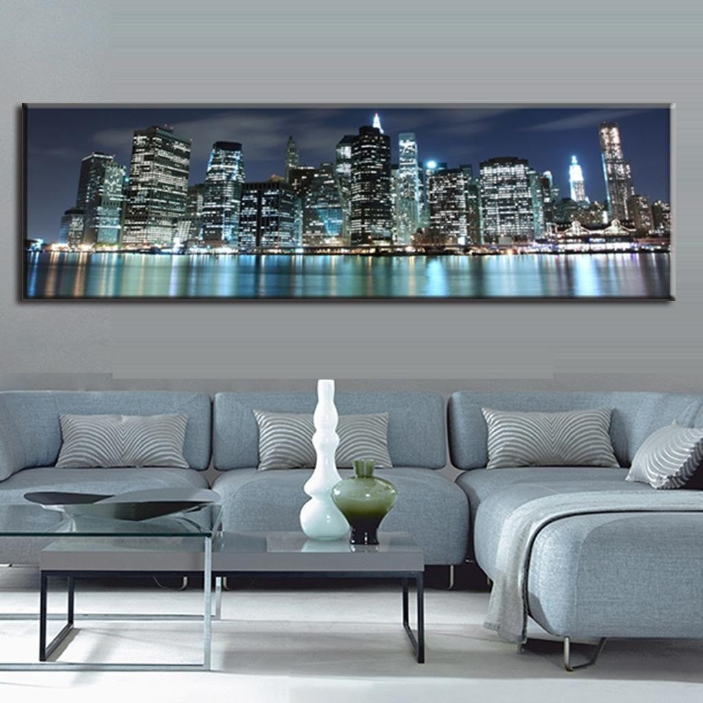 Unframed Art Canvas - Blue NYC - essential.merch