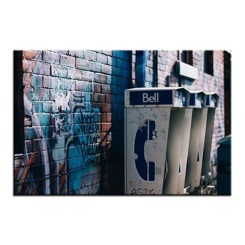 Unframed Art Canvas - Graffiti Phone - essential.merch