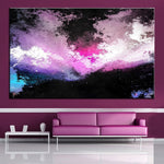 Unframed Art Canvas-Neon Sky - essential.merch