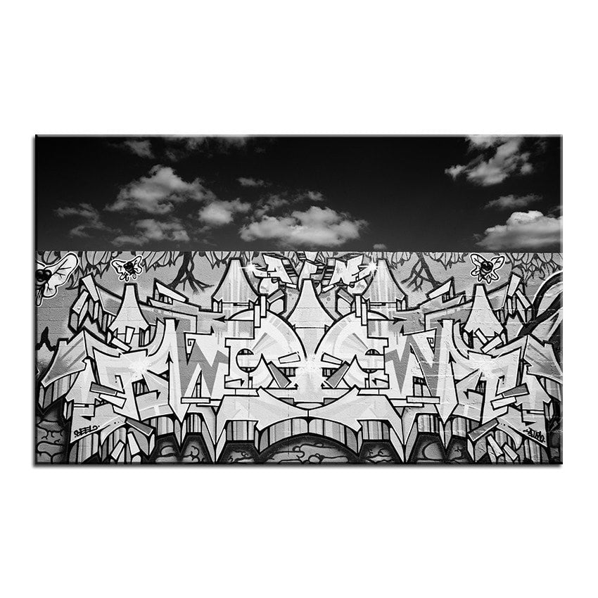 Unframed Graffiti Art Canvas - essential.merch