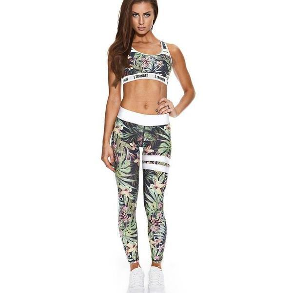 Ladies Tropical Print Set
