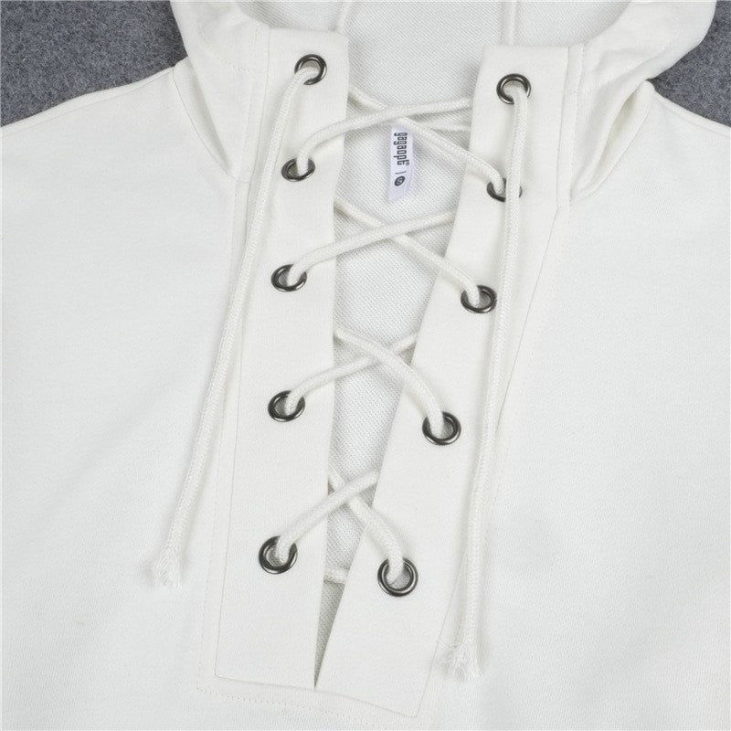 Ladies Lace Up Hoodie - essential.merch