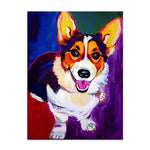 Unframed Art Canvas - Pop Art Corgi - essential.merch