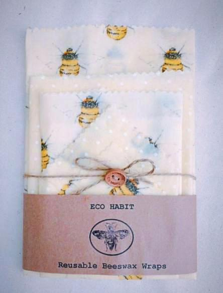 Handmade Beeswax Food Wraps - Set of 5 - essential.merch