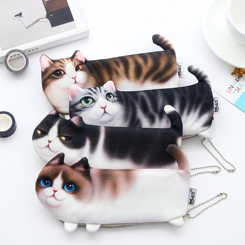 Realistic 3D Kitty Zip Pouch - essential.merch