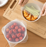Kitchen: Silicone Food Container Covers x 4 - essential.merch
