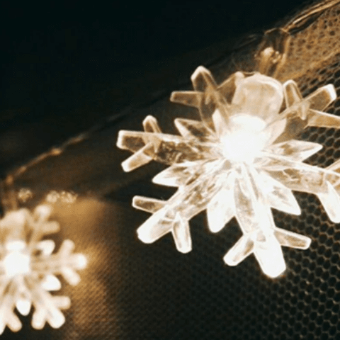 Snowflake Fairy Lights - essential.merch