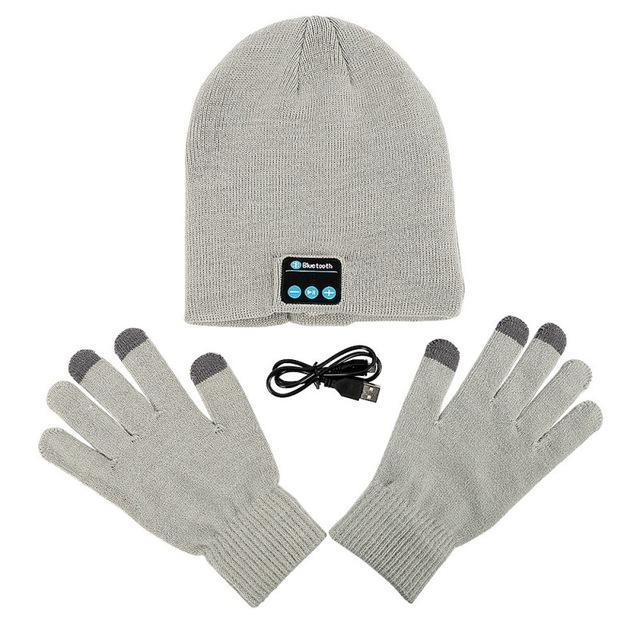 Bluetooth Beanie & Gloves Set - Handsfree Listening & Talking - essential.merch