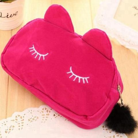 Sleepy Cat Zip Pouch with Tassel - essential.merch