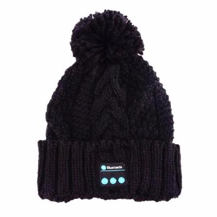 Bluetooth Cableknit Beanie - Handsfree Listening & Talking - essential.merch
