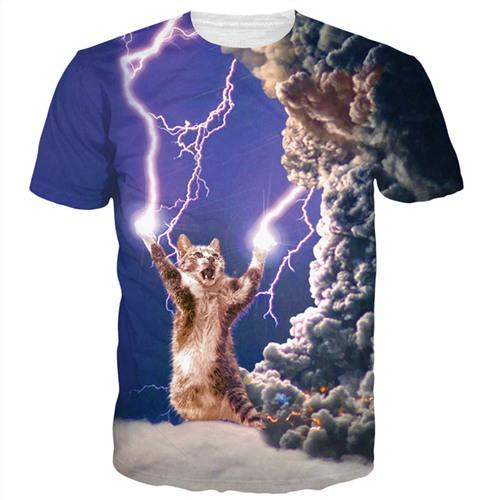 "Unisex ""Thunder-Kitty"" 3D Printed Tee - essential.merch"