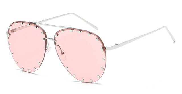 Studded Aviator Sunglasses - essential.merch