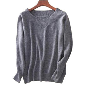 Modern V-Neck Cashmere Sweater - essential.merch