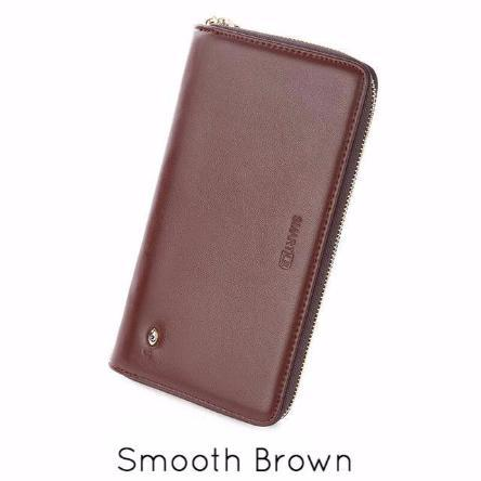 Leather Bluetooth & Powerbank Zip-Around Wallet - essential.merch