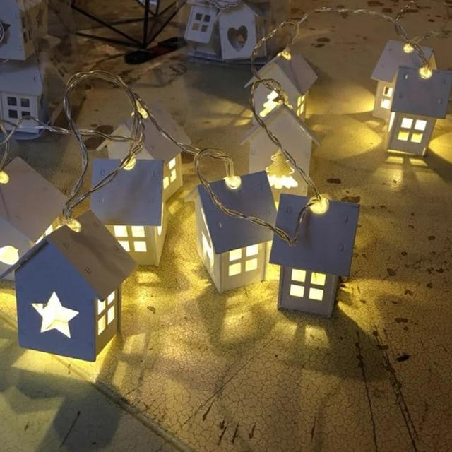 Wood House Fairy Lights - essential.merch