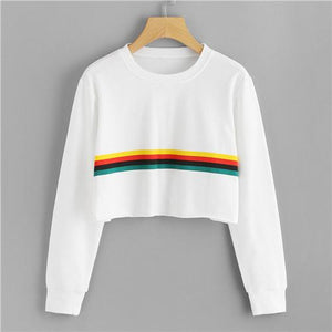 Rainbows Ahead Cropped Sweater - essential.merch